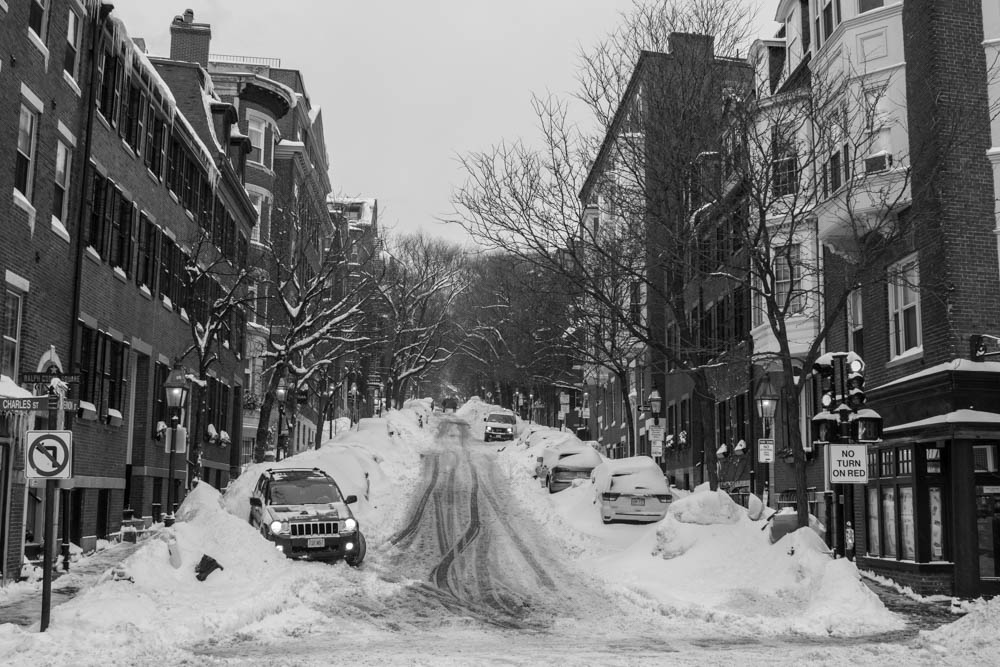Beacon Hill in the snow