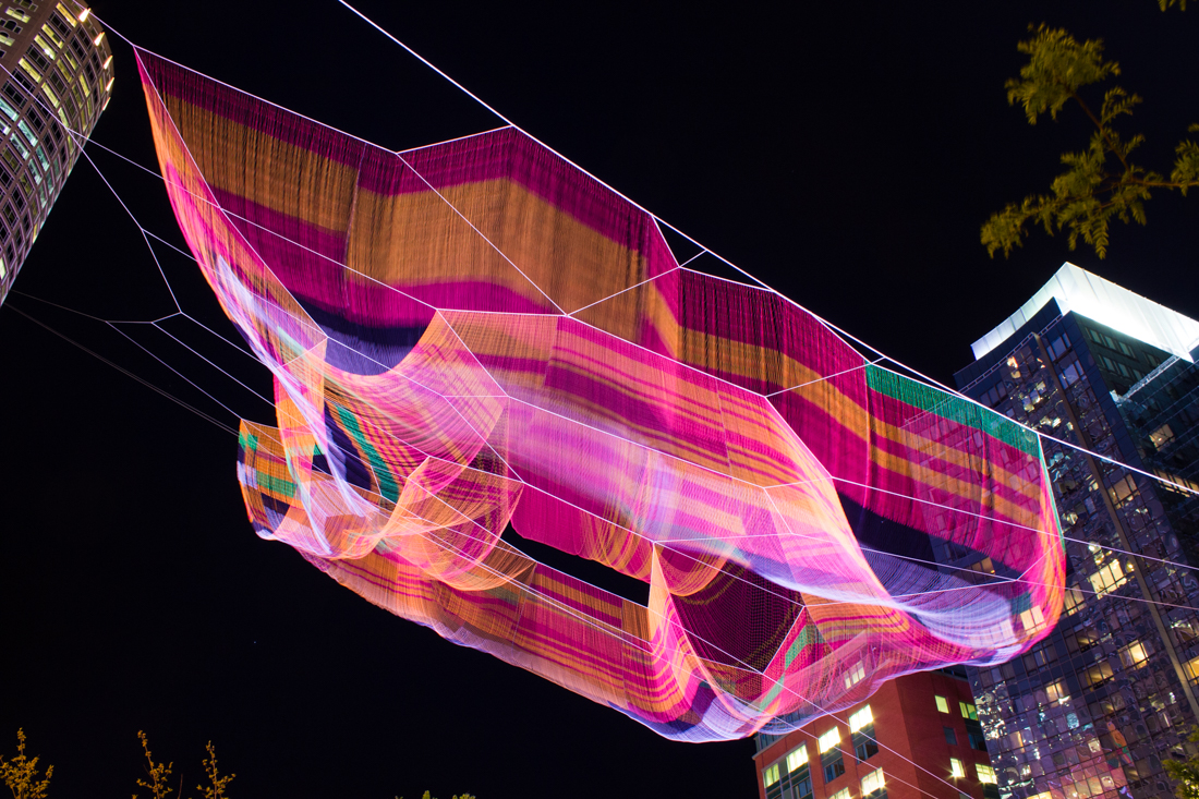 Janet Echelman's aerial sculpture
