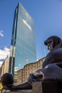 John Hancock tower in Copley square in Boston
